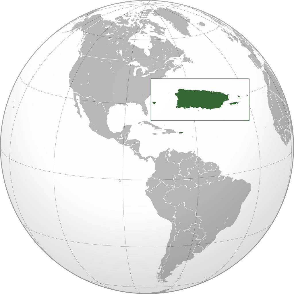 Porto Rico carte Amérique