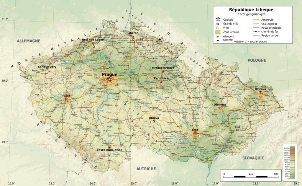 République tchèque carte