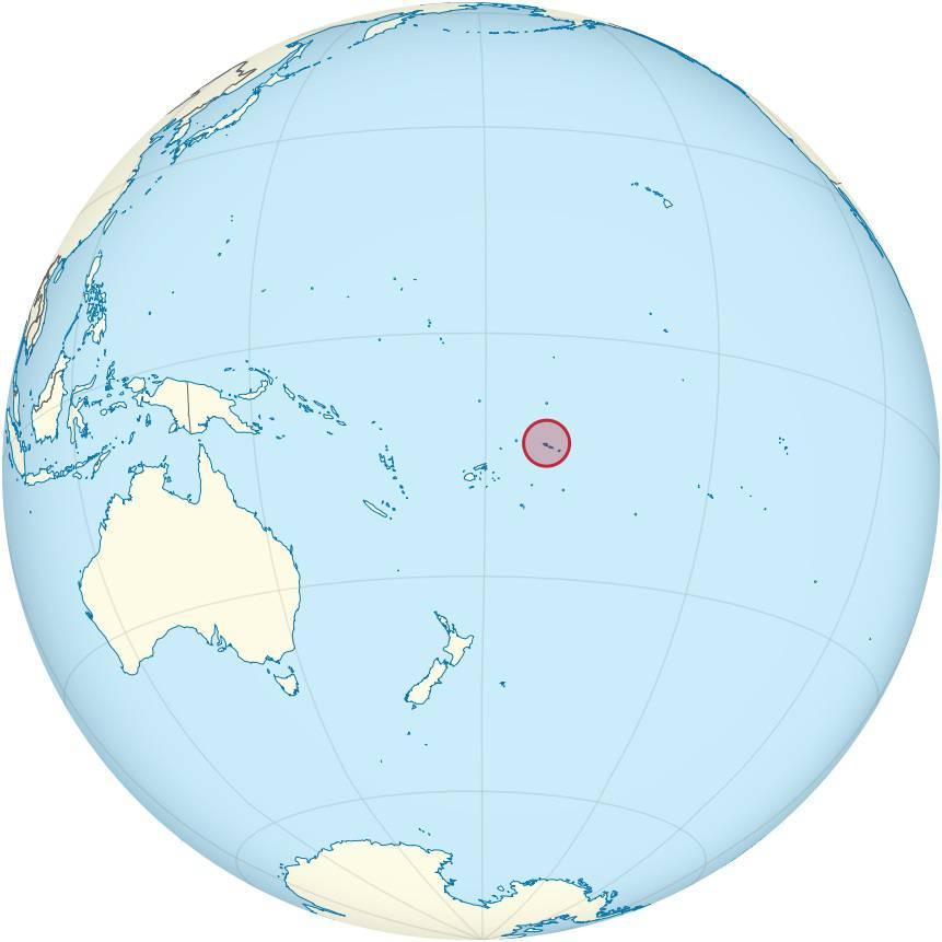 Samoa sur une carte de l'Océanie