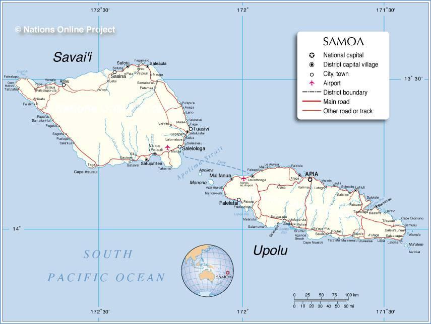 Samoa carte