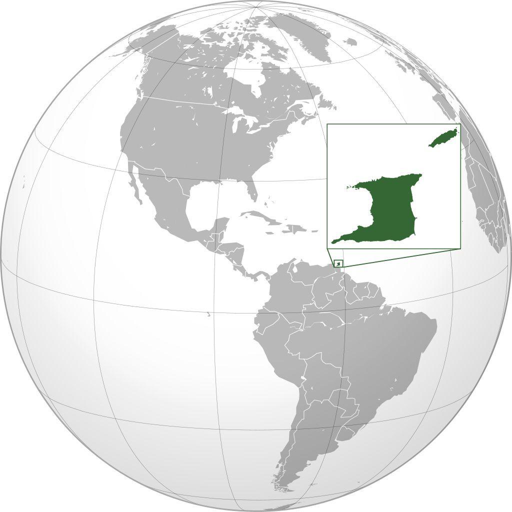 Trinité-et-Tobago carte Amérique