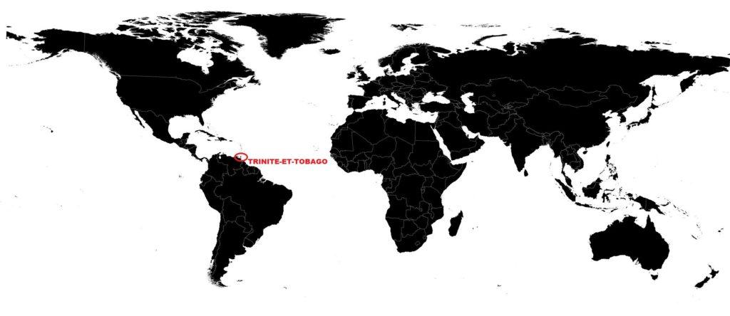 Trinité-et-Tobago sur une carte du monde