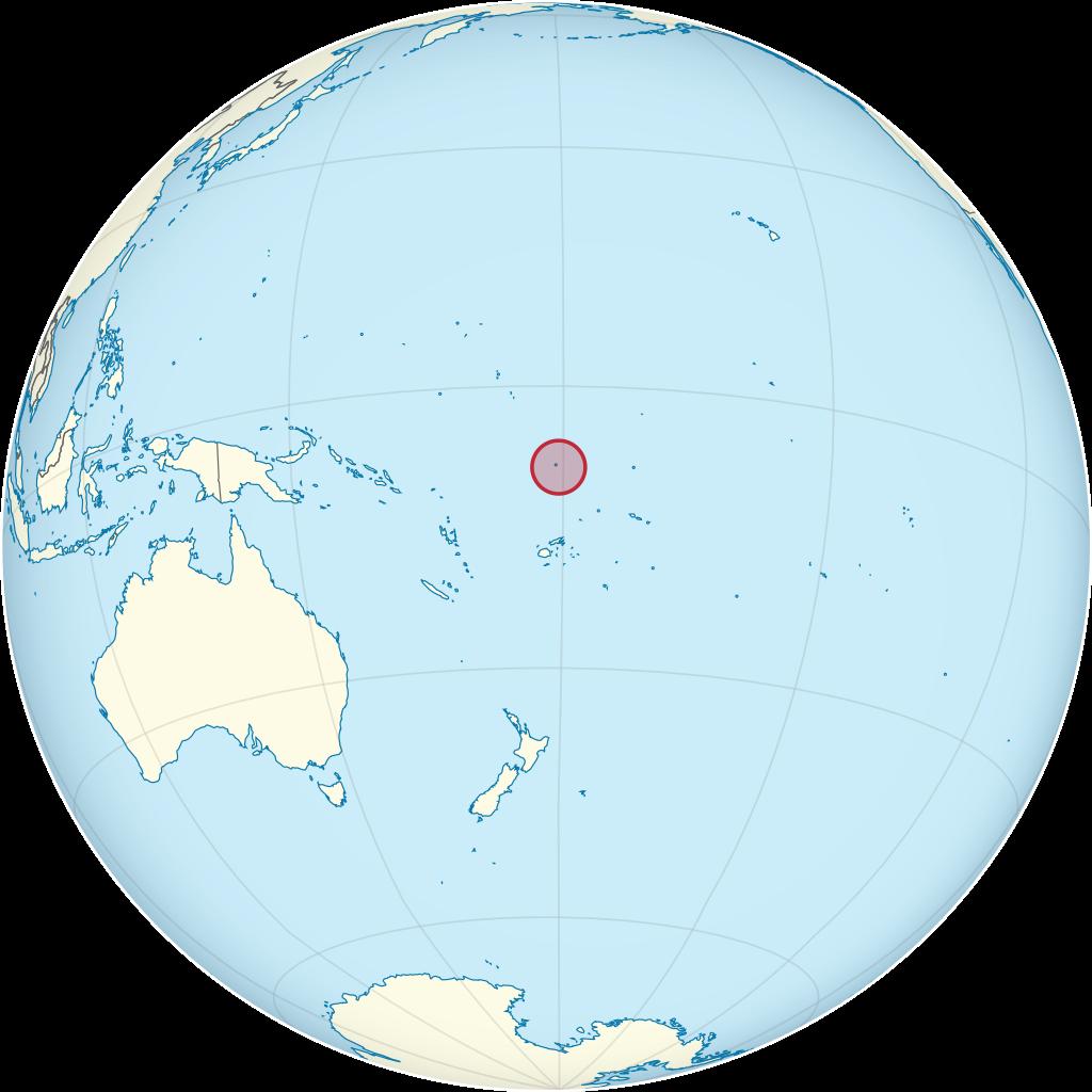 Tuvalu carte de l'Océanie