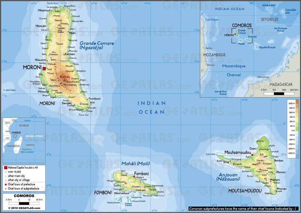 Carte des Comores