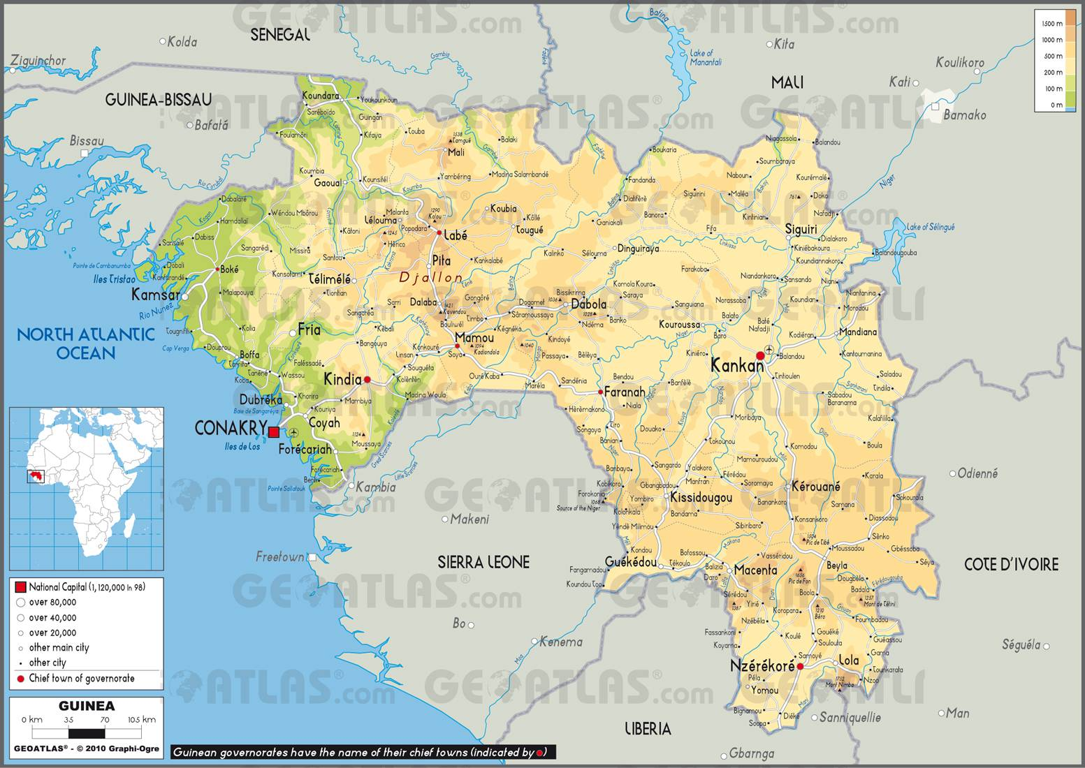 Carte de la Guinée