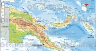 Carte de la Papouasie-Nouvelle-Guinée