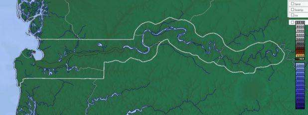 Carte du relief de la Gambie