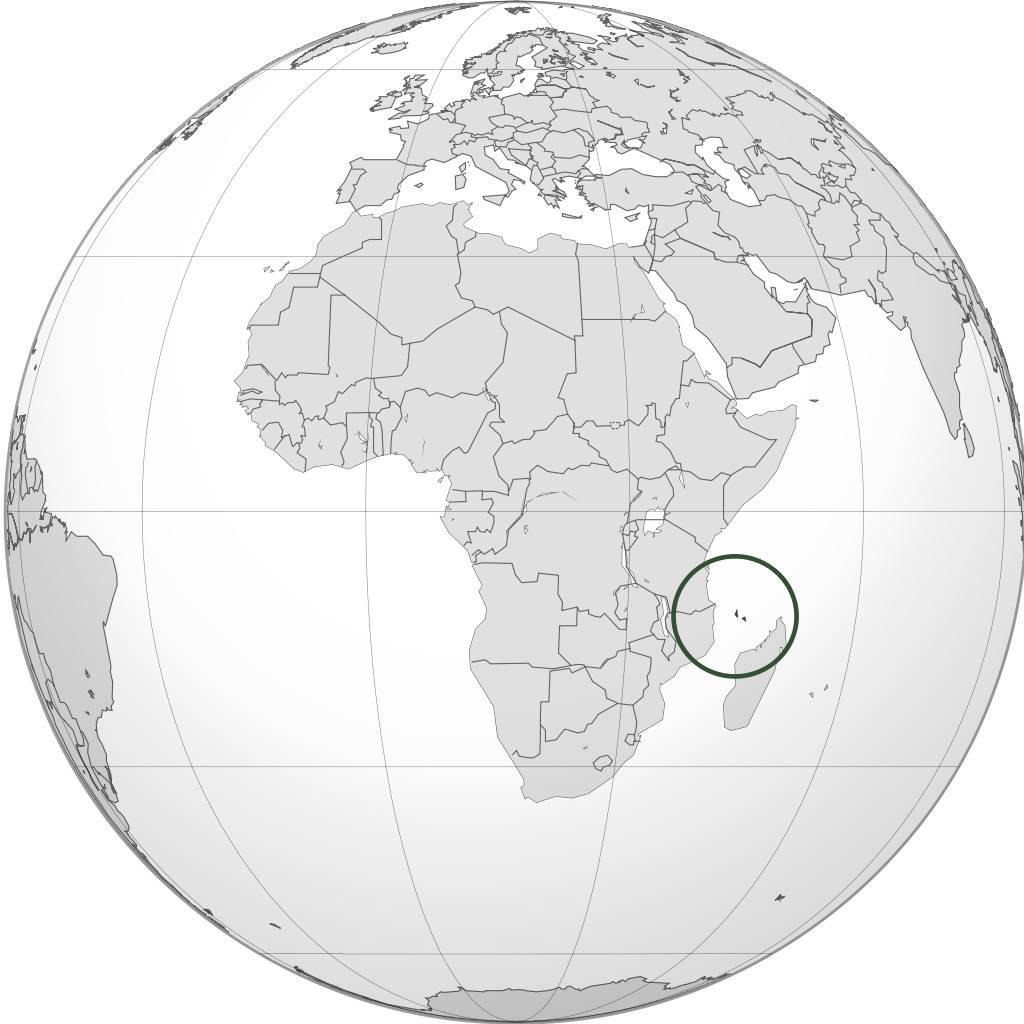 Comores sur une carte de l'Afrique