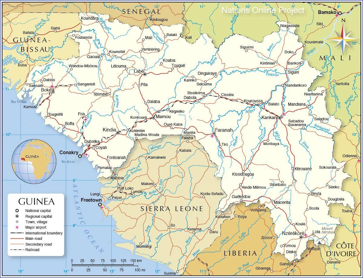 carte de la guinée Carte de la Guinée   Plusieurs cartes du pays en Afrique
