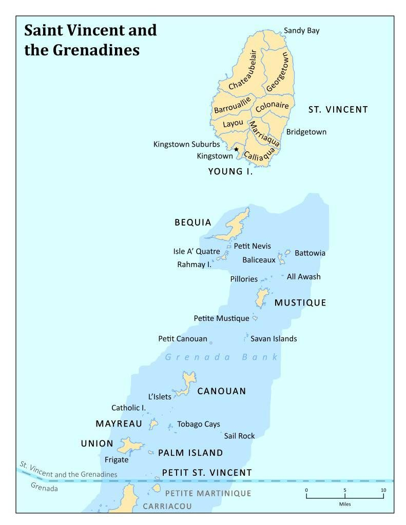Saint-Vincent-et-les-Grenadines carte