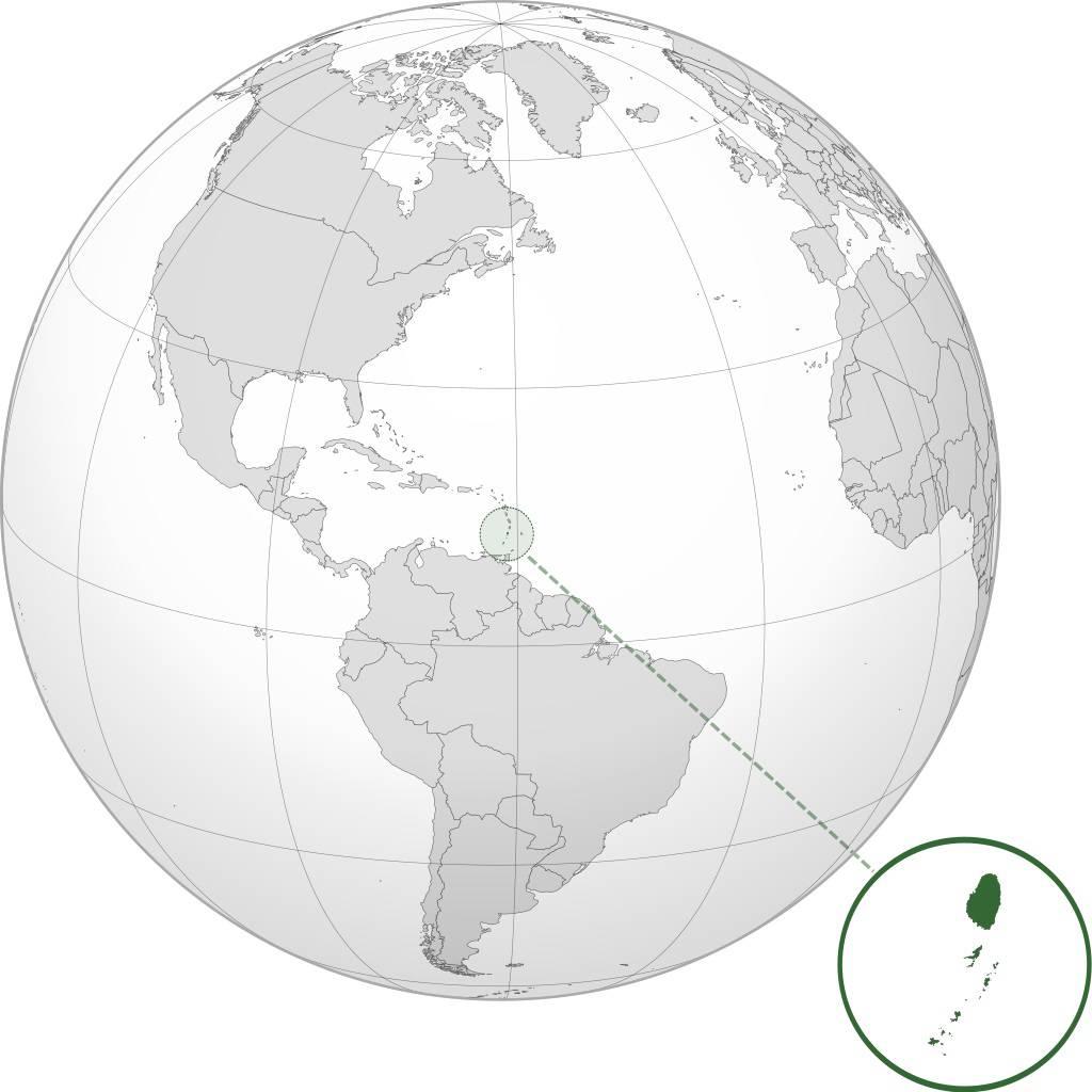 Saint-Vincent-et-les-Grenadines carte de l'Amérique