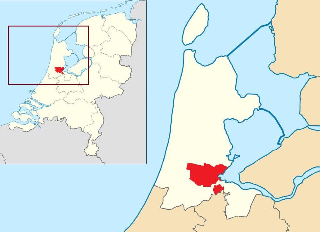 Amsterdam sur une carte des Pays-Bas