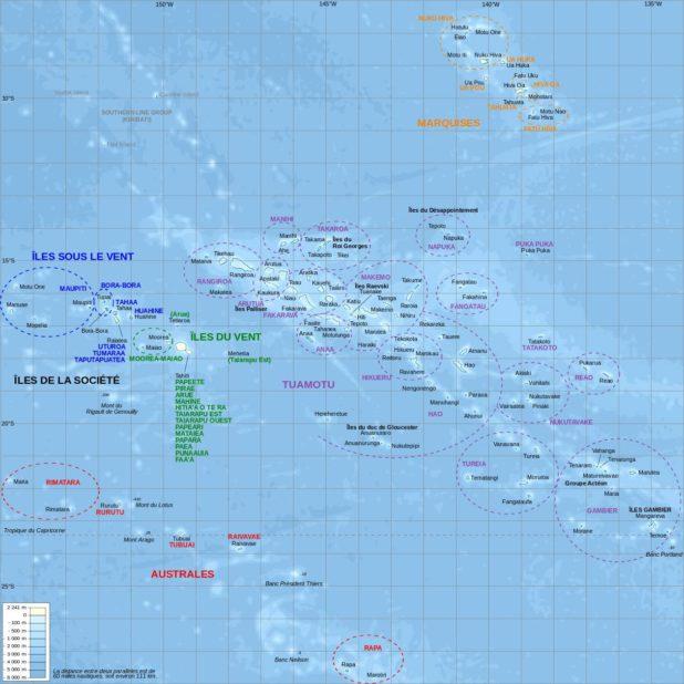 Carte administrative de la Polynésie française