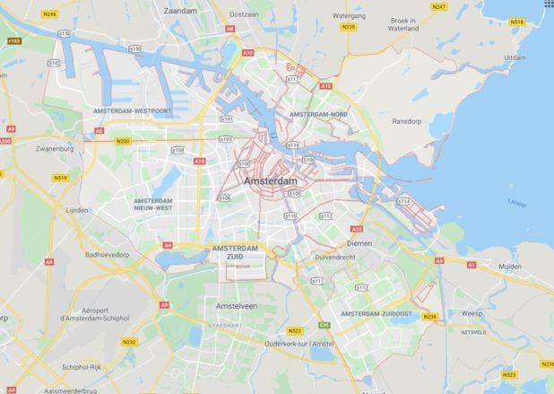 Carte d'Amsterdam