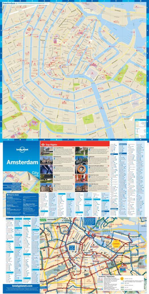 Carte du centre-ville d'Amsterdam