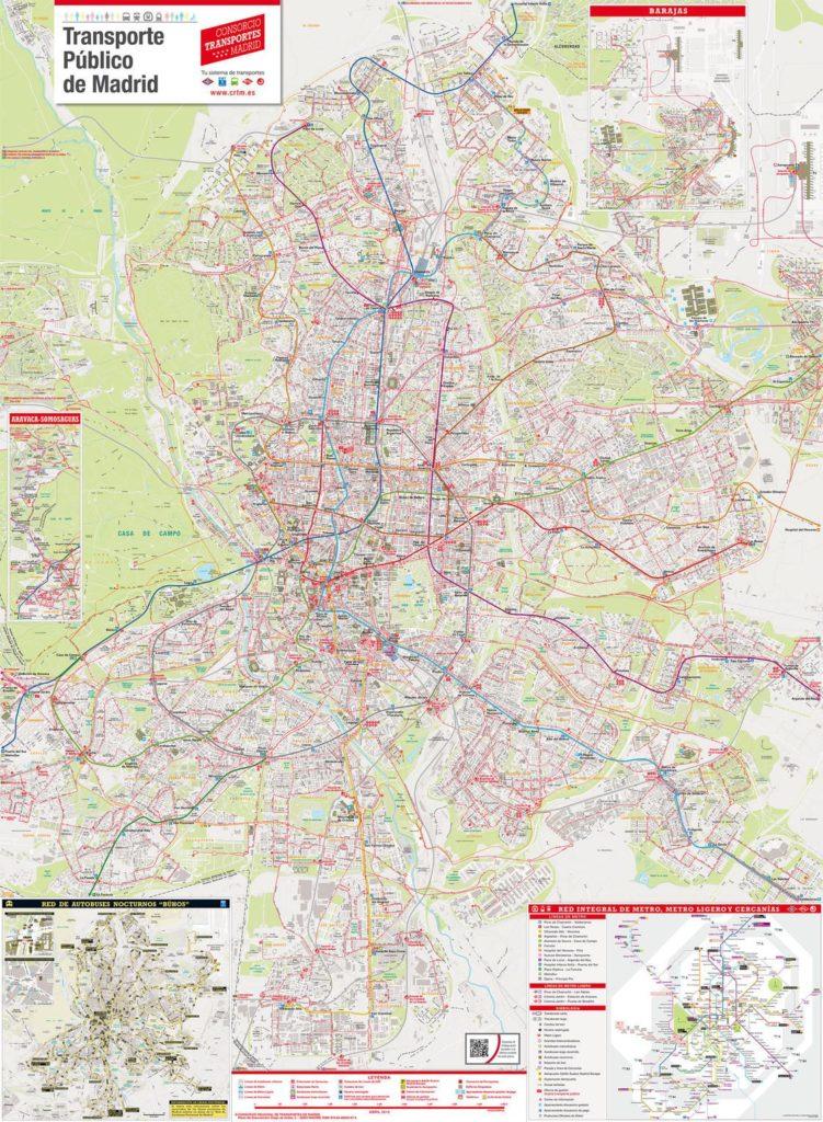 Carte des bus de Madrid