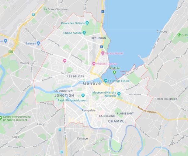 Carte de Genève