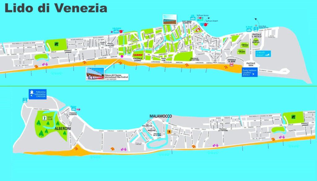 Carte Lido à Venise
