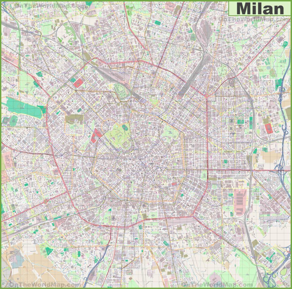 Carte de Milan