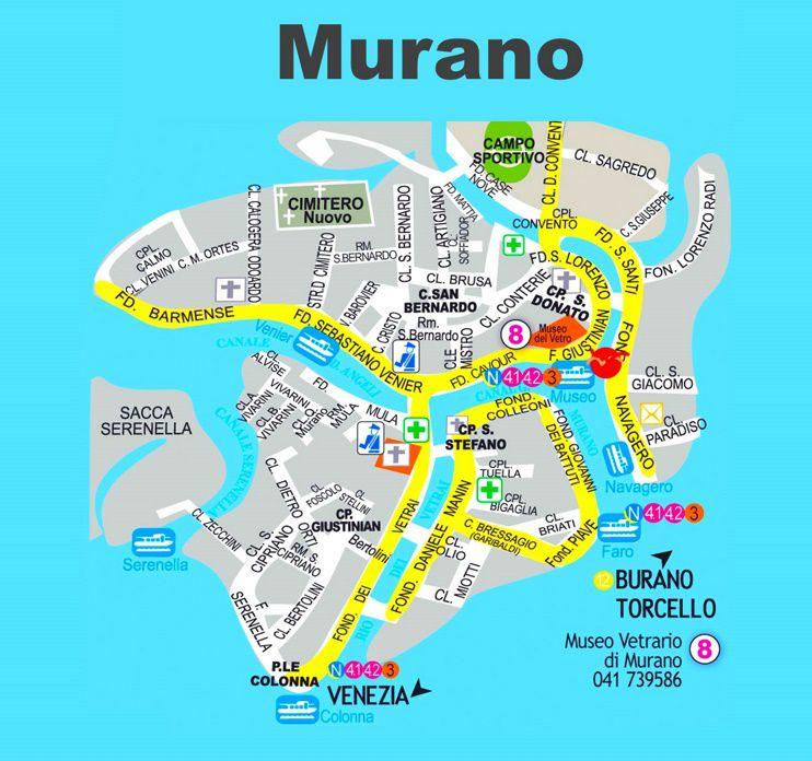 Carte de Murano à Venise