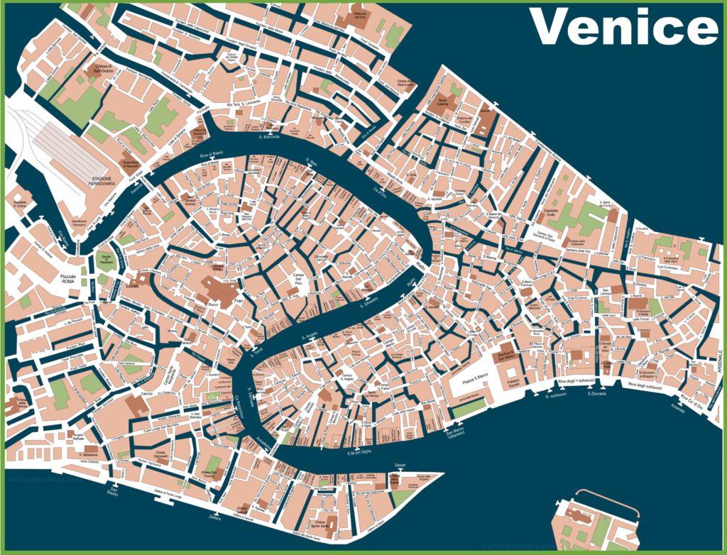 Carte des rues de Venise