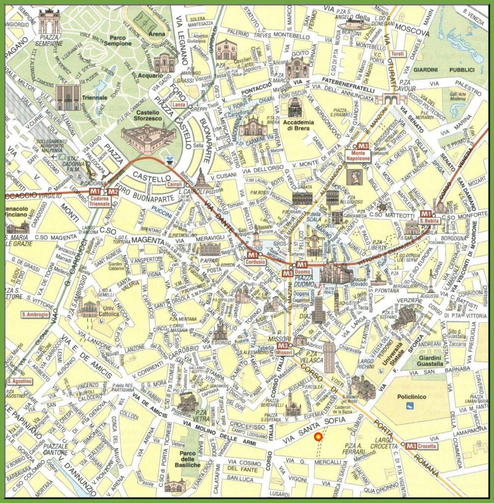 Carte du tourisme à Milan