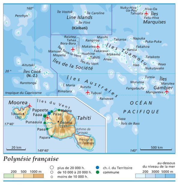 Polynésie française carte