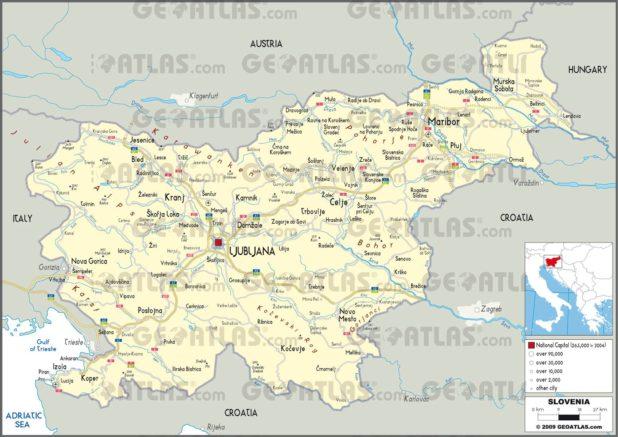 Carte administrative de la Slovénie