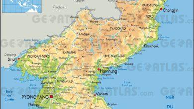 Carte de la Corée du Nord