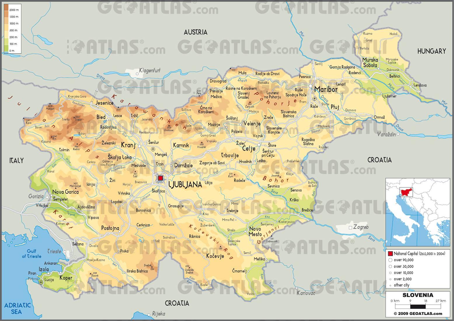 Carte de la Slovénie