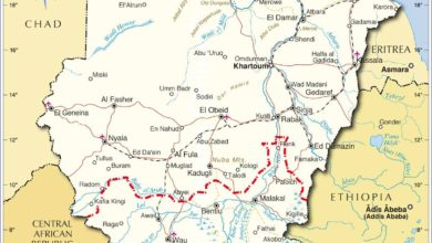 Carte du Soudan