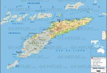 Carte du Timor oriental