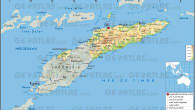 Photo of Carte du Timor oriental
