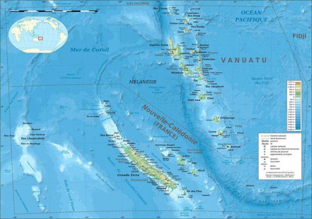 Nouvelle-Calédonie carte
