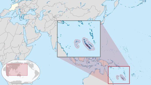 Nouvelle-Calédonie carte Océanie