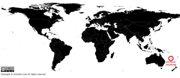 Nouvelle-Calédonie carte du monde