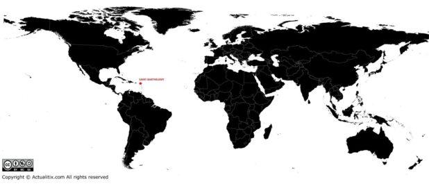 Saint-Barthélemy carte du monde