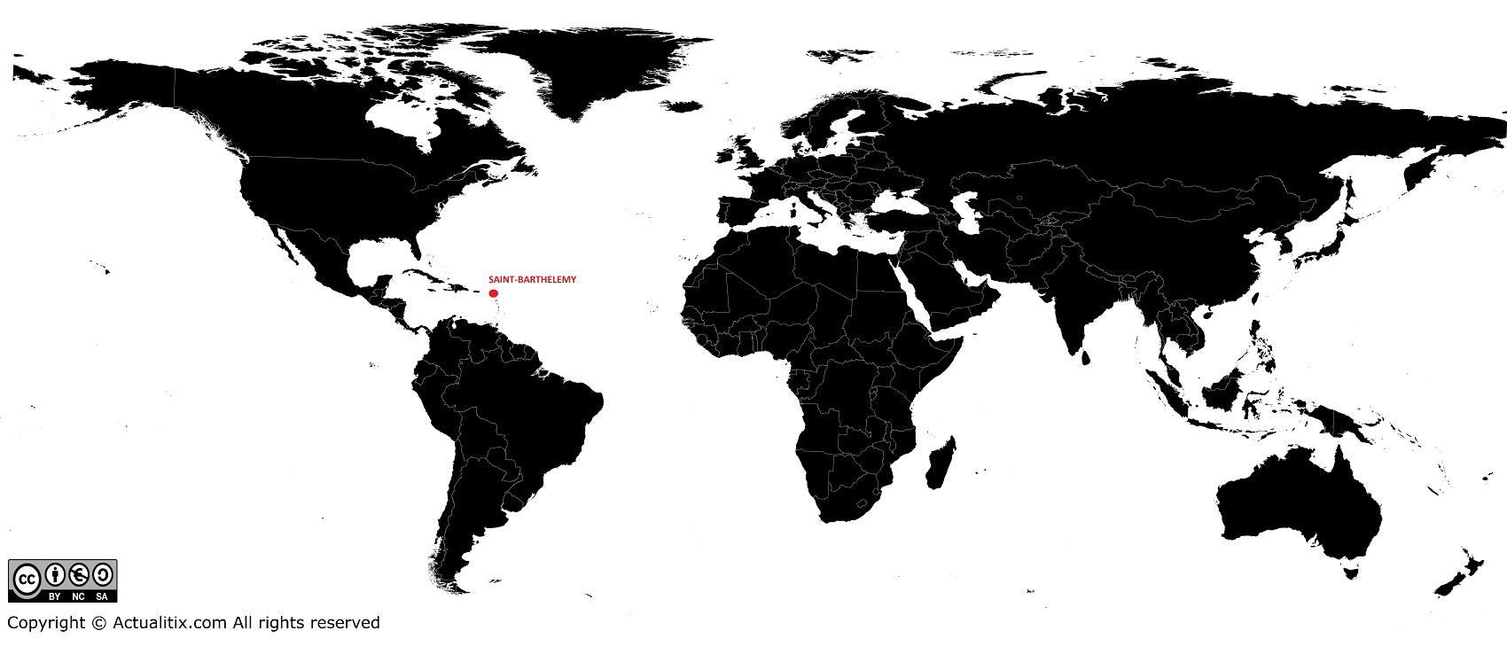 Saint barth Carte du monde