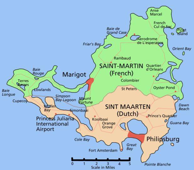 Saint-Martin carte