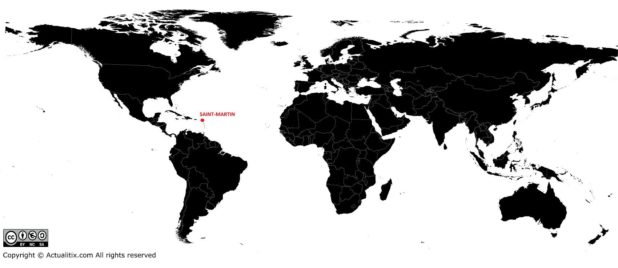 Saint-Martin carte du monde
