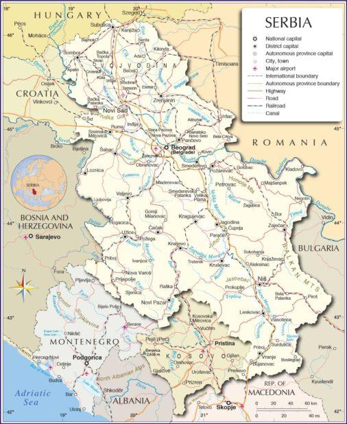 Serbie carte