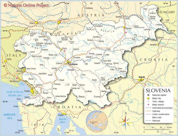 Slovénie carte
