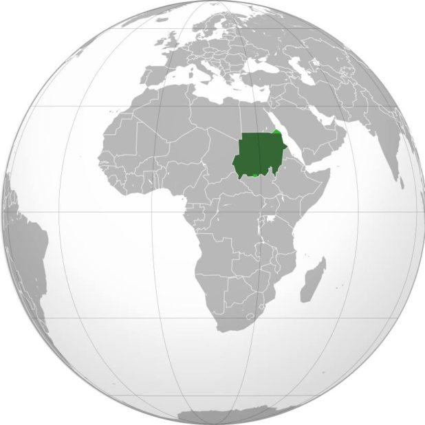 Soudan sur une carte d'Afrique