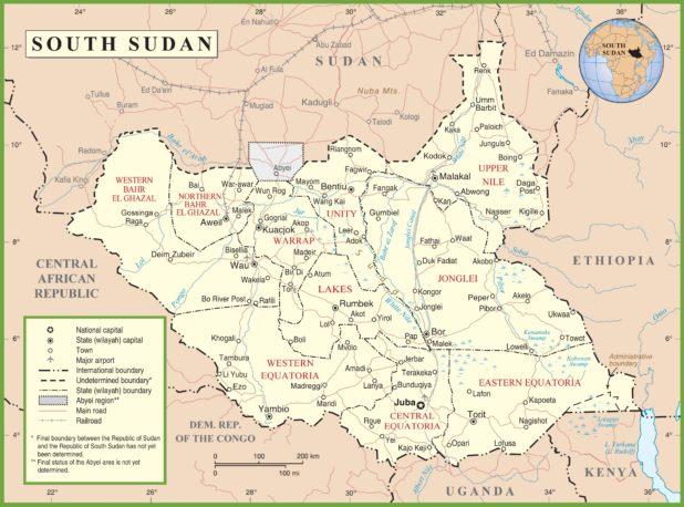 Soudan du Sud carte