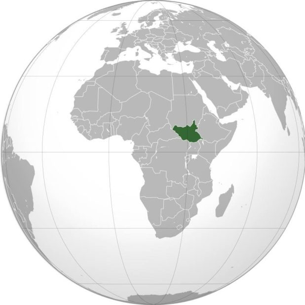 Soudan du Sud sur une carte d'Afrique