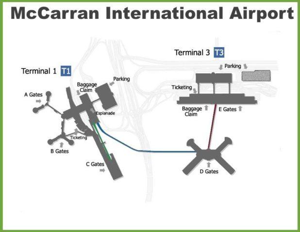 Carte de l'aéroport de Las Vegas