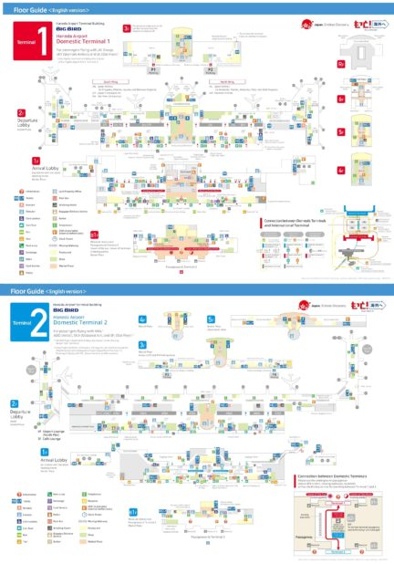 Carte aéroport de Tokyo