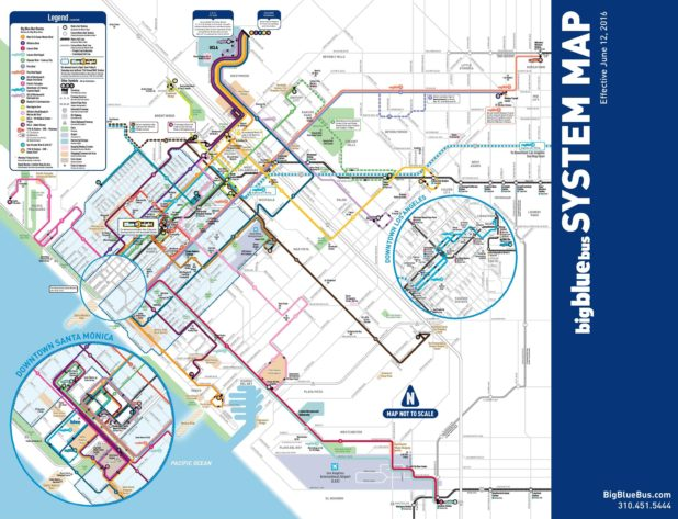 Carte des bus à Los Angeles