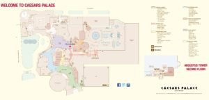 Carte du Caesars Palace hotel à Las Vegas