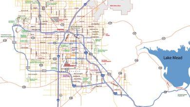 Carte de Las Vegas